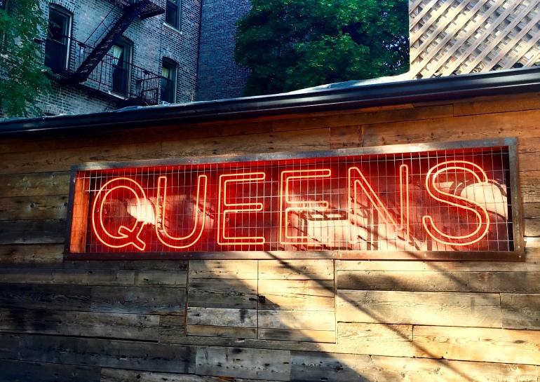 A sign at Sek'n Sun in Astoria, Queens