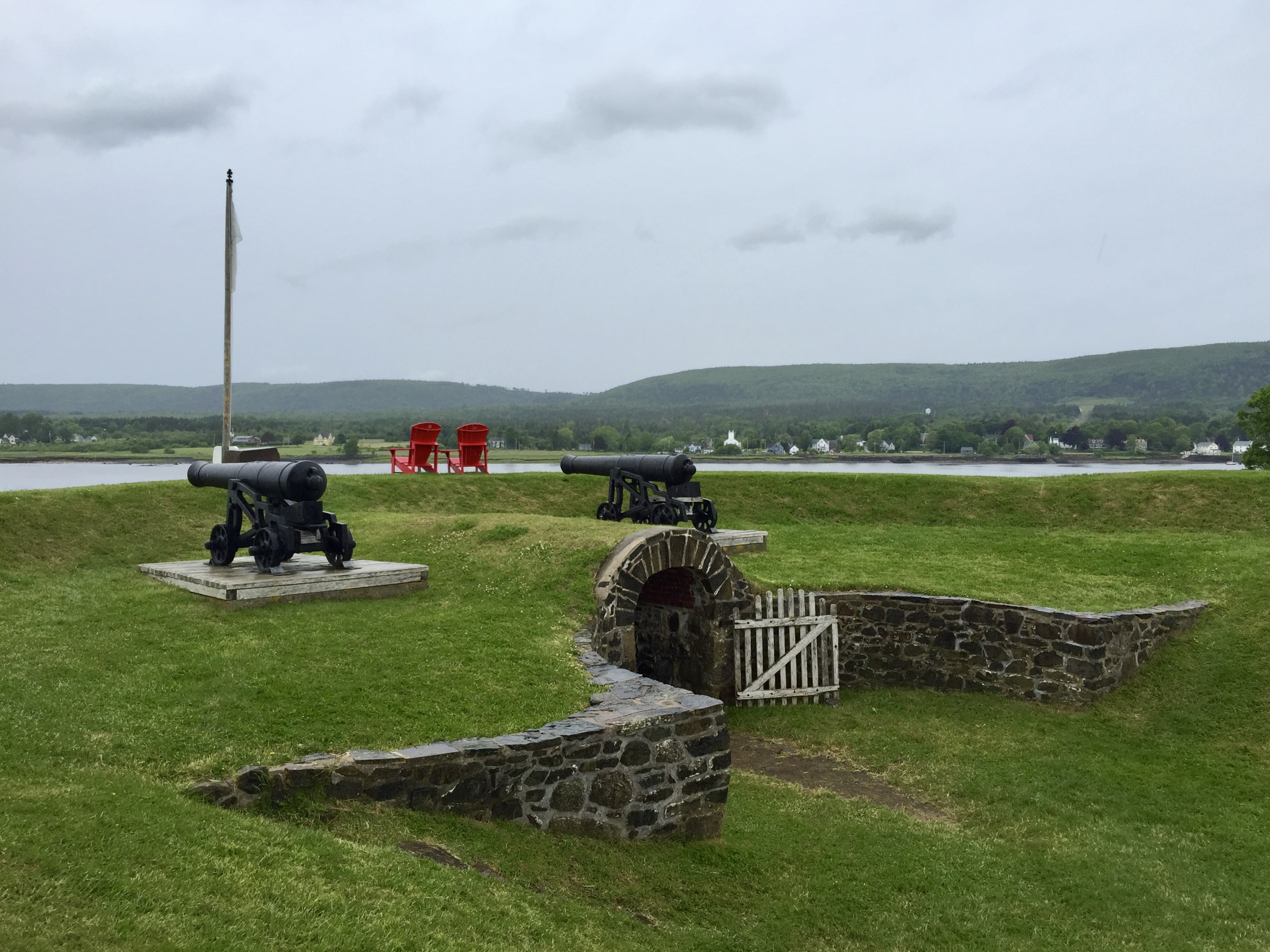 cannons at Fort Anne National Historic Site