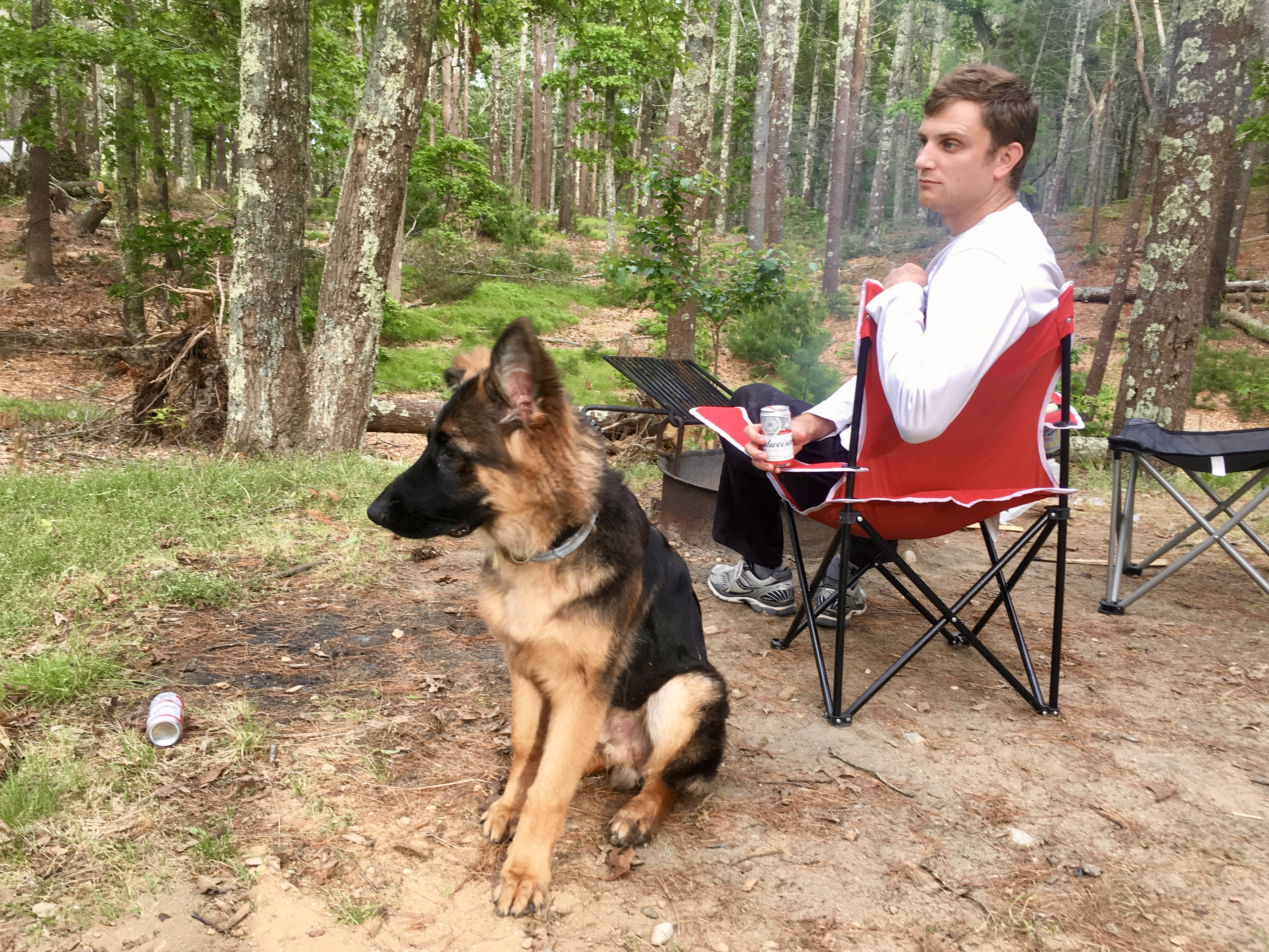 Camping with a dog at Nickerson State Park