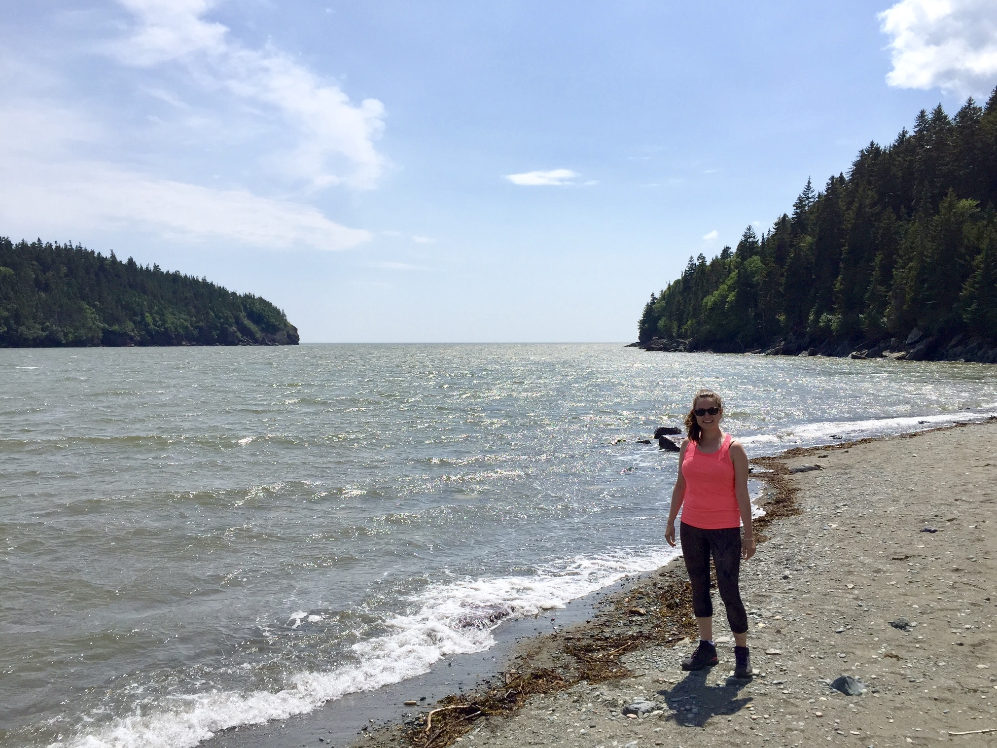 hiker at Fundy National Park