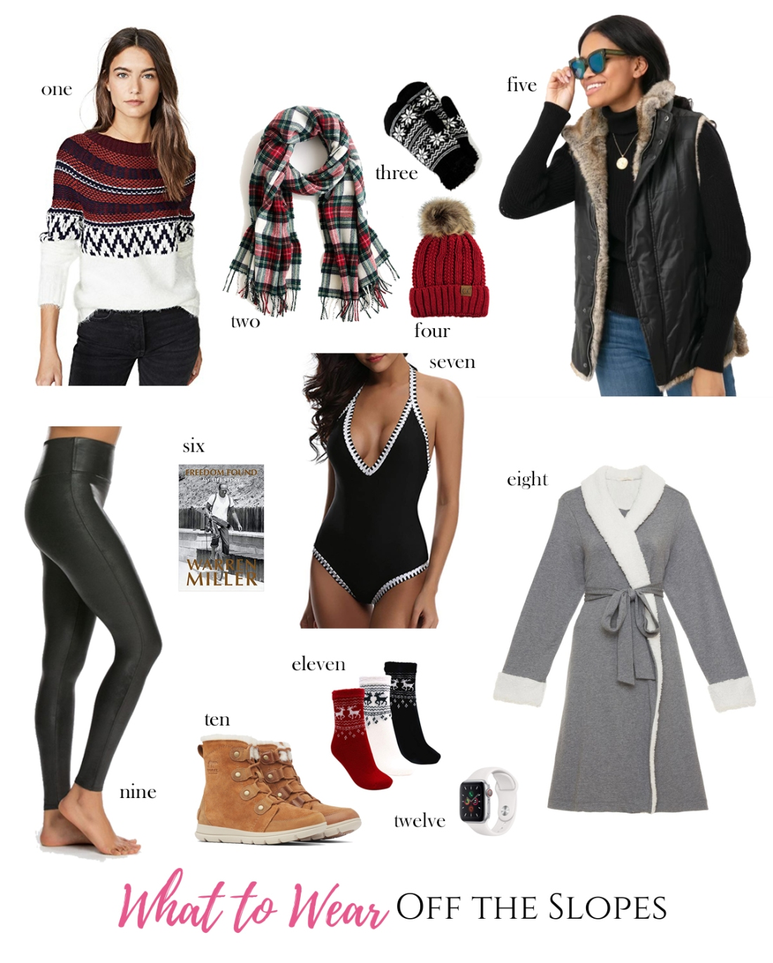 what to wear off the slopes - ski trip packing list