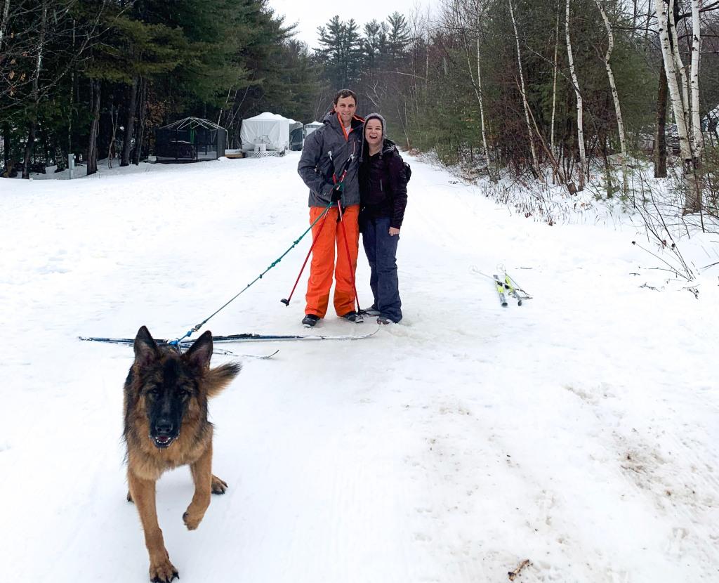 Skijoring at Gunstock Mountain Resort in New England